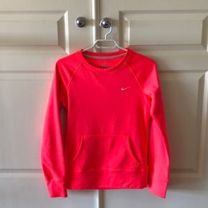 Nike XS Neon pink sweater long sleeve shirt